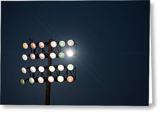 Beneath Friday Night Lights Greeting Card by Trish Mistric
