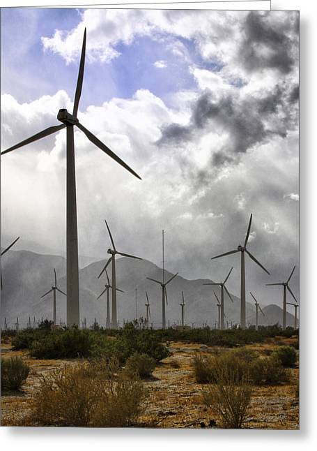 Featured Art Greeting Cards - BENEATH THE CLOUDS Palm Springs Greeting Card by William Dey