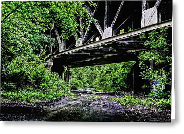 Skyway Greeting Cards - Beneath the Skyway Greeting Card by JC Findley