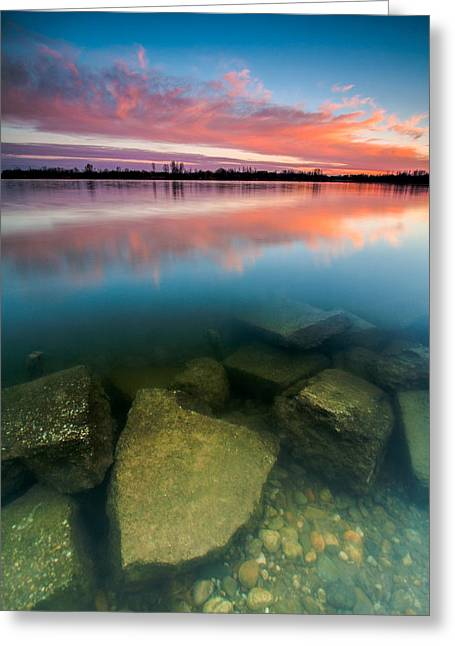 Blue Green Water Greeting Cards - Beneath The Surface Greeting Card by Davorin Mance