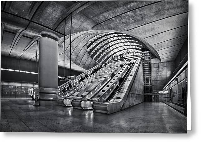 Escalator Greeting Cards - Beneath The Surface Of Reality Greeting Card by Evelina Kremsdorf