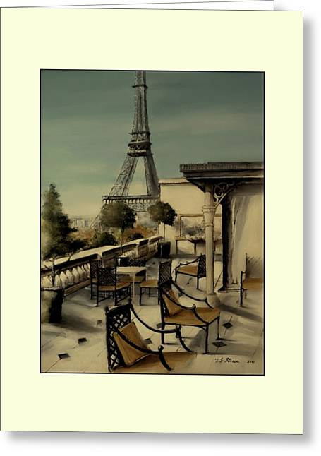 Table Wine Mixed Media Greeting Cards - Beneath the Tower   Number 11 Greeting Card by Diane Strain