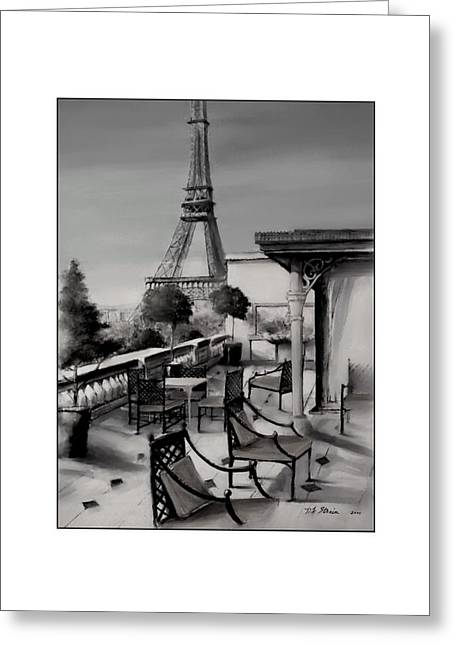 Table Wine Mixed Media Greeting Cards - Beneath the Tower   Number 12 Greeting Card by Diane Strain