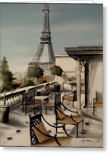 Table Wine Mixed Media Greeting Cards - Beneath the Tower  Number 3 Greeting Card by Diane Strain