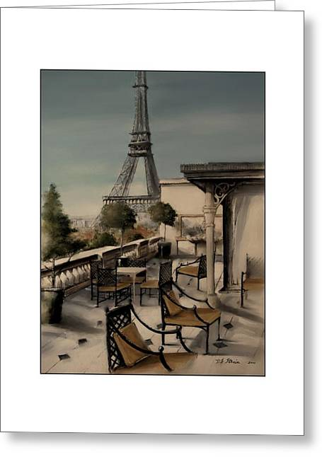 Table Wine Mixed Media Greeting Cards - Beneath the Tower   Number 9 Greeting Card by Diane Strain