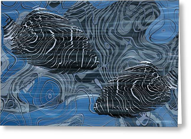 Creating Greeting Cards - Beneath The Waves Series Greeting Card by Jack Zulli