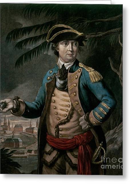 Benedict Greeting Cards - Benedict Arnold Greeting Card by English School