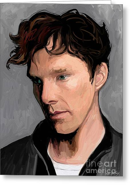 Benedict Greeting Cards - Benedict Cumberbatch Greeting Card by Dori Hartley