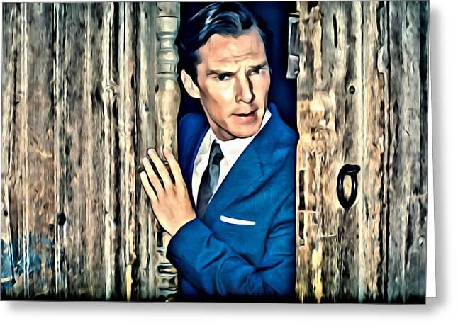 British Celebrities Photographs Greeting Cards - Benedict Cumberbatch Greeting Card by Florian Rodarte