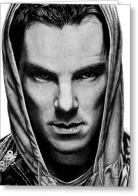 Hoodies Drawings Greeting Cards - Benedict Cumberbatch Greeting Card by Kayleigh Semeniuk