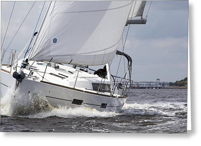 Hulls Greeting Cards - Beneteau Oceanis 45 Hull #1 Sailboat  Greeting Card by Dustin K Ryan