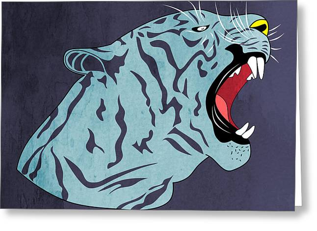 Cool Lion Greeting Cards - Bengal Greeting Card by Mark Ashkenazi