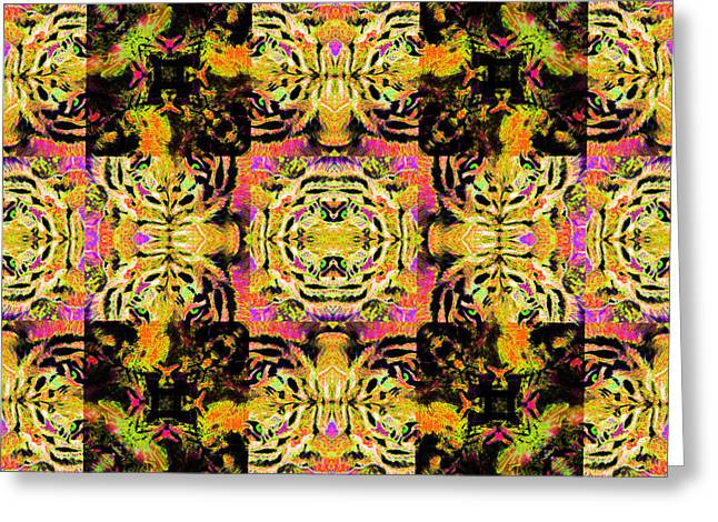 Bengal Tiger Abstract 20130205p80 Greeting Card by Wingsdomain Art and Photography