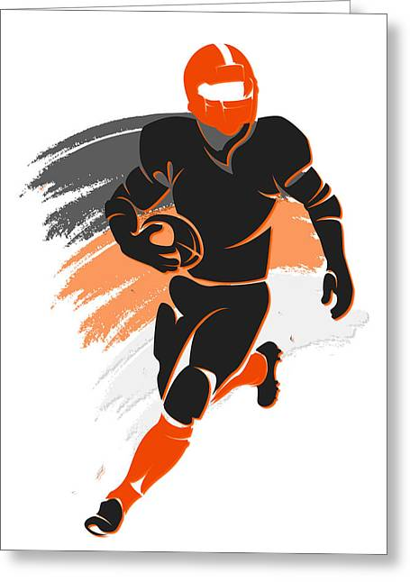 Sports Greeting Cards - Bengals Shadow Player2 Greeting Card by Joe Hamilton