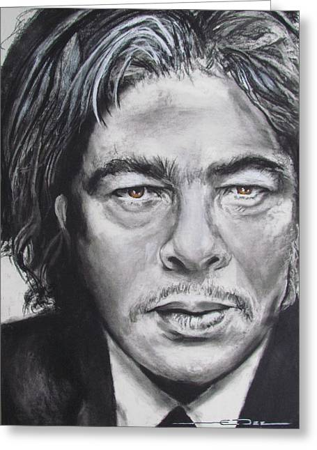 In-city Pastels Greeting Cards - Benicio del Toro Greeting Card by Eric Dee