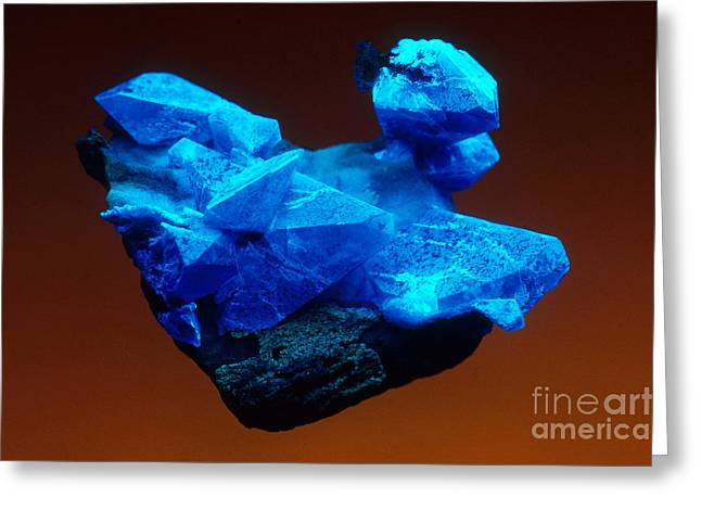Ultraviolet Light Greeting Cards - Benitoite Greeting Card by Mark A Schneider