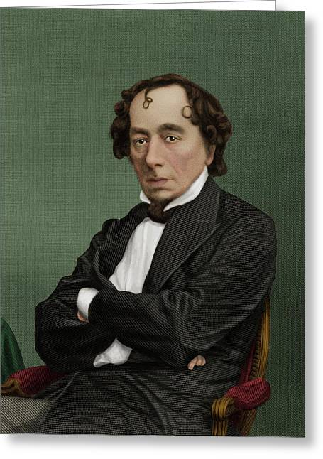 Benjamin Disraeli Greeting Card by Maria Platt-evans