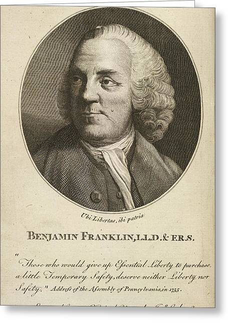 Benjamin Franklin Greeting Card by British Library