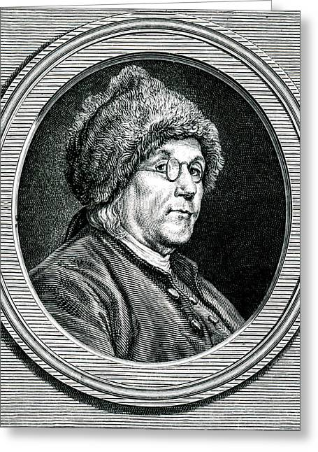 Benjamin Franklin Greeting Card by Collection Abecasis