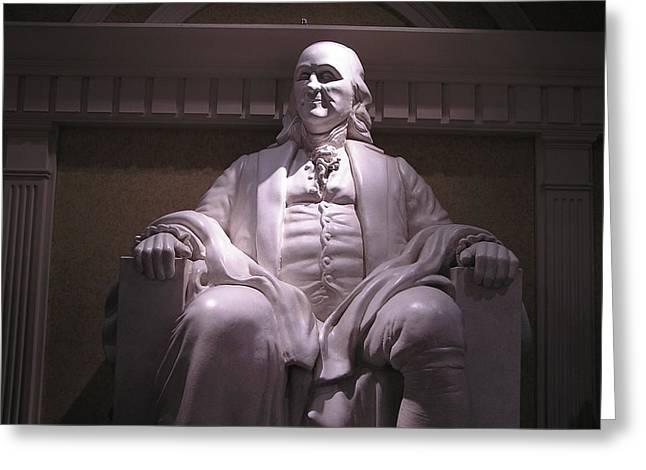 Franklin Press Greeting Cards - Benjamin Franklin Greeting Card by Jewels Blake Hamrick