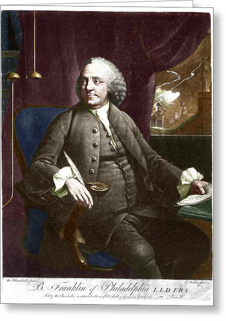 Benjamin Franklin Greeting Card by Science Photo Library