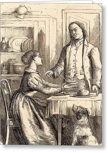 Benjamin Franklin Greeting Card by Universal History Archive/uig