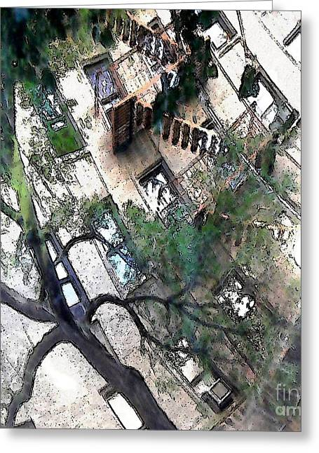 Washington Heights Greeting Cards - Bennett Avenue Fire Escape Greeting Card by Sarah Loft