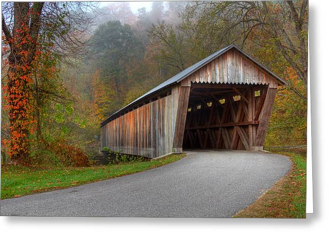 Bennett Mill Covered Bridge Greeting Card by Jack R Perry