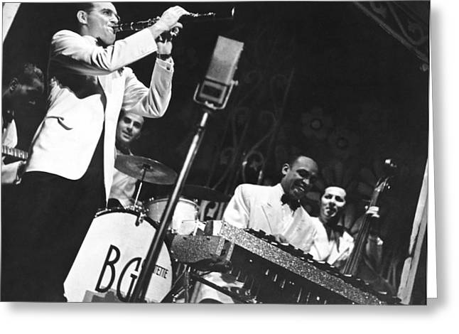 Benny Goodman Quartet Greeting Card by Underwood Archives