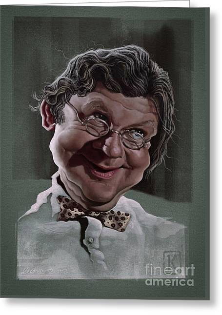Comedian Digital Greeting Cards - Benny Hill Greeting Card by Andre Koekemoer