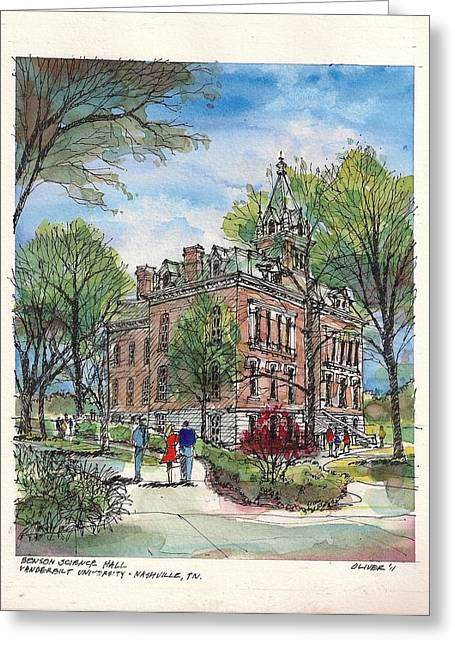 Tim Mixed Media Greeting Cards - Benson Hall Greeting Card by Tim Oliver
