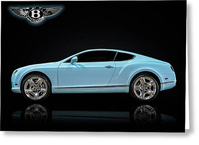 Blue Car. Greeting Cards - Bentley Blues Greeting Card by Douglas Pittman