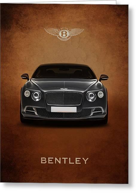British Car Greeting Cards - Bentley Continental GT Greeting Card by Mark Rogan