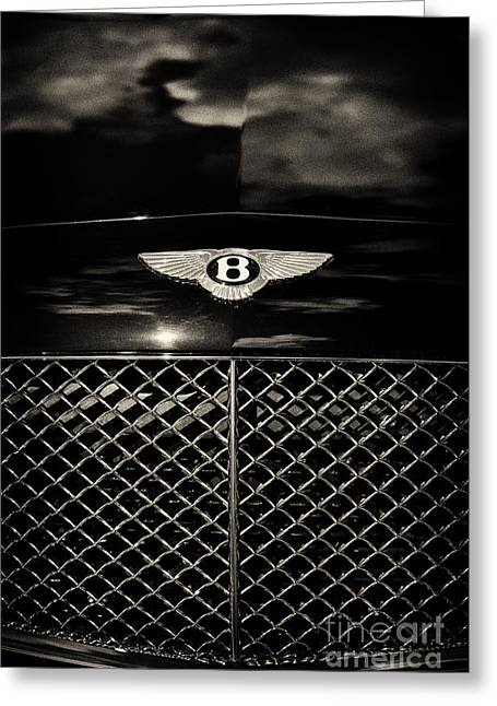 Car Mascot Greeting Cards - Bentley Continental GT Sepia Greeting Card by Tim Gainey