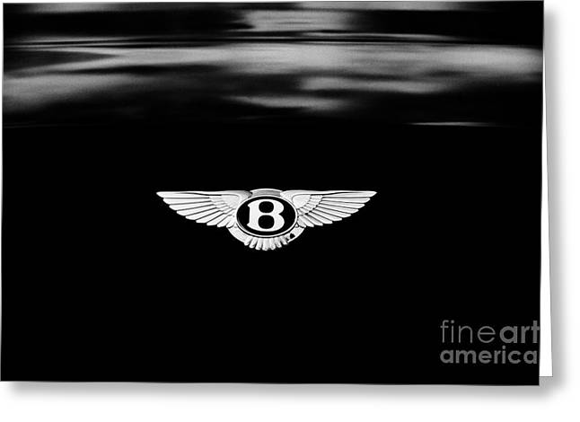 Monochrome Greeting Cards - Bentley Continental GT  Greeting Card by Tim Gainey