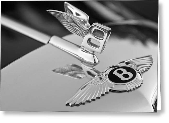 Collector Hood Ornament Greeting Cards - Bentley Hood Ornament 5 Greeting Card by Jill Reger