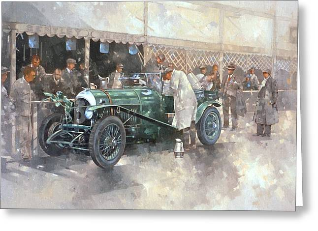 Bentley Old Number 7 Greeting Card by Peter Miller
