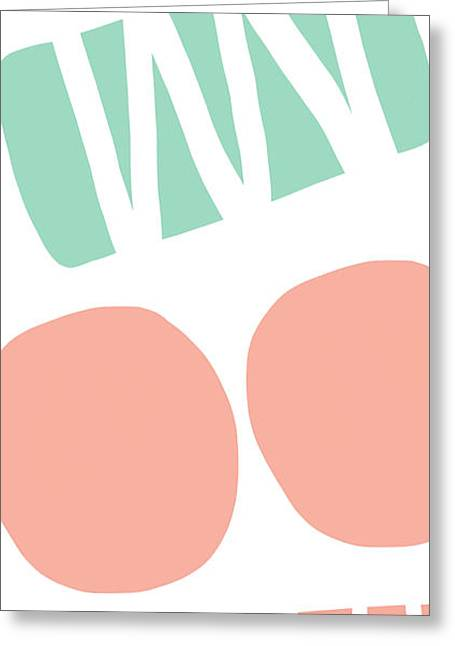 6 Greeting Cards - Bento 2- abstract shapes art Greeting Card by Linda Woods