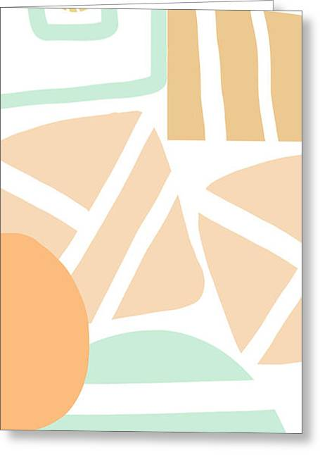 Lines Greeting Cards - Bento 3- abstract shapes art Greeting Card by Linda Woods