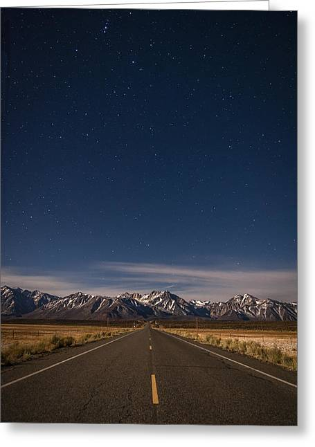 Night-scape Greeting Cards - Benton Crossing Rd. Greeting Card by Cat Connor