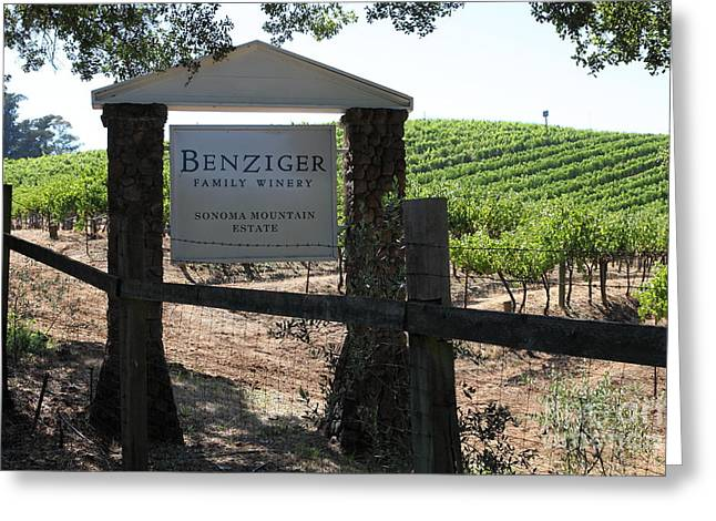 Fruit And Wine Greeting Cards - Benziger Winery In The Sonoma California Wine Country 5D24593 Greeting Card by Wingsdomain Art and Photography