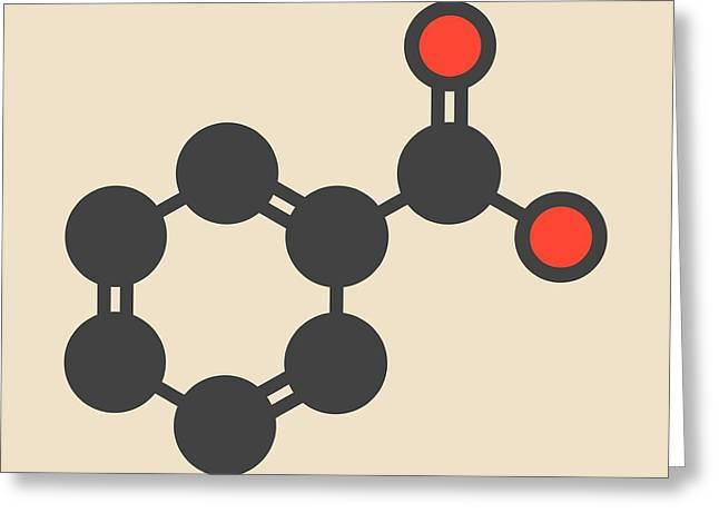 Benzoic Acid Molecule Greeting Card by Molekuul