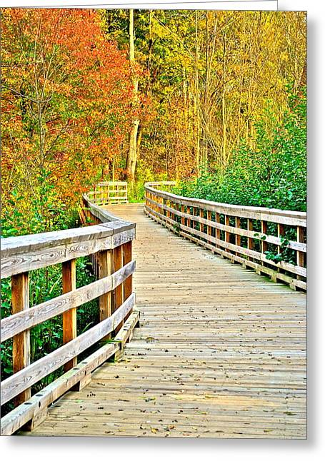 Jogging Greeting Cards - Berea Bike Path Greeting Card by Frozen in Time Fine Art Photography