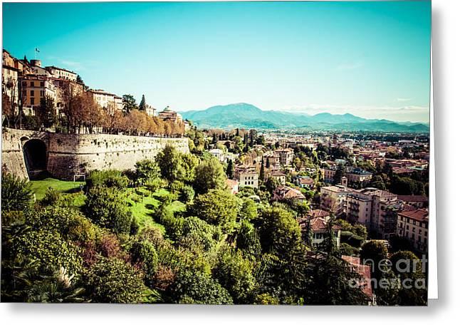 Citta Alta Greeting Cards - Bergamo Greeting Card by Mariusz Prusaczyk