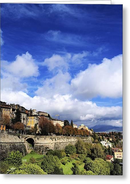 Citta Alta Greeting Cards - Bergamo Greeting Card by Karol Kozlowski