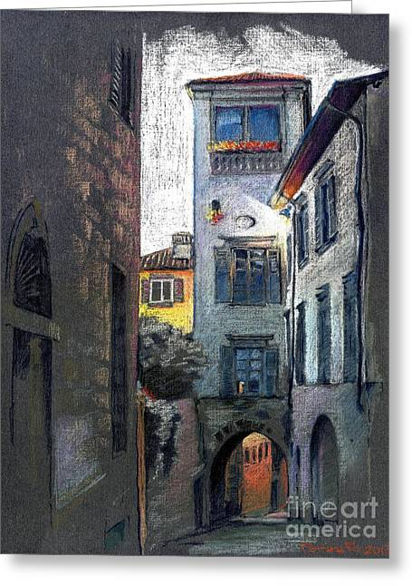 Bergamo. Via Tassis Greeting Card by Viacheslav Rogin