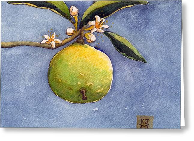 Essential Paintings Greeting Cards - Bergamot Greeting Card by Katherine Miller