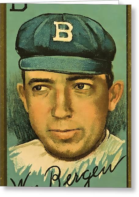 Bergen Brooklyn Dodgers Greeting Card by David Letts