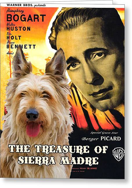 Berger Picard - Picardy Shepherd Art Canvas Print - The Treasure Of The Sierra Madre Movie Poster Greeting Card by Sandra Sij