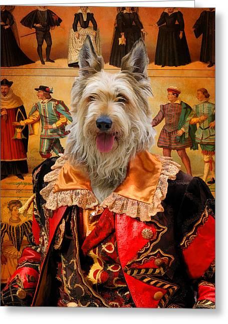 Berger Picard - Picardy Shepherd Art Canvas Print Greeting Card by Sandra Sij